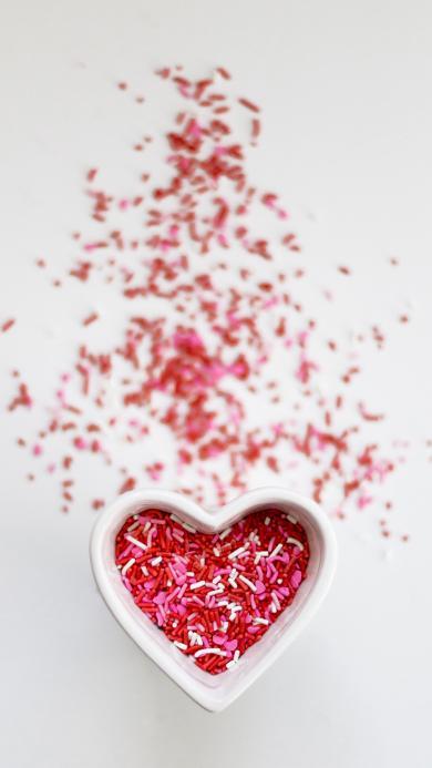 爱心 糖果装饰 色彩