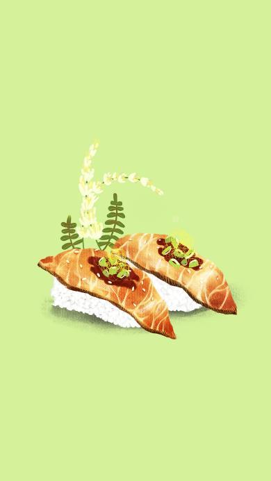 手绘美食 日式 寿司