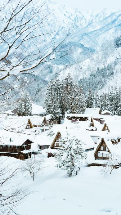 雪景 雪屋 雪季 大雪封山