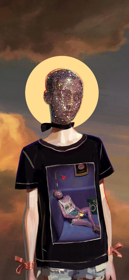 Gucci插画 品牌 奢侈品 T恤