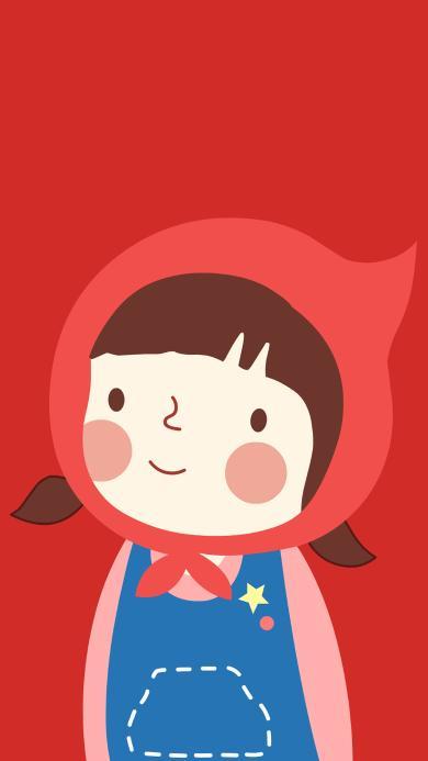 小红帽 红色 卡通 可爱