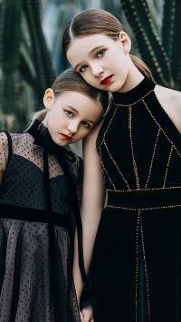 小模特 小女孩 欧美 时尚 闺蜜 儿童