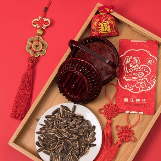 新年快乐 瓜子 中国结