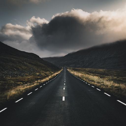 道路 灰暗 公路 在路上