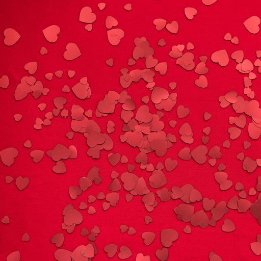 爱心 密集 散落 剪纸