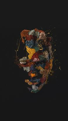 面具 黑暗 色彩 工艺 艺术