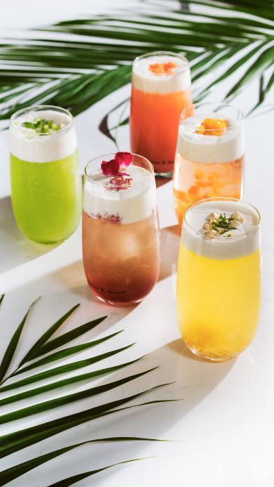 果汁 饮料 叶子 色彩