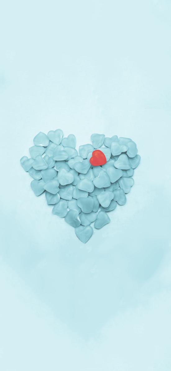 爱心 蓝色 爱情 心形