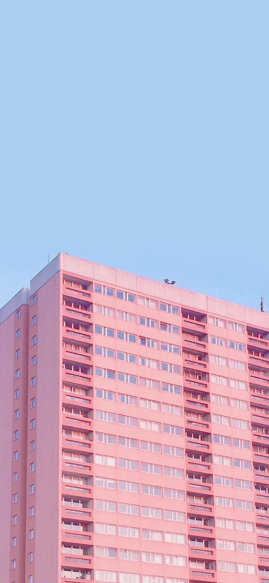 建筑 楼房 粉色