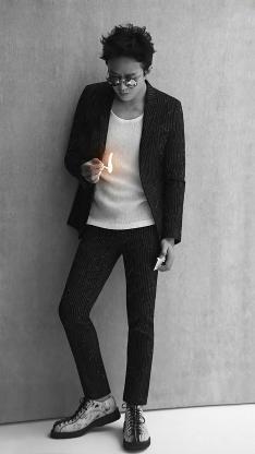 邓超 演员 明星 艺人 写真 黑白