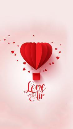 爱心 浪漫 爱情 热气球 心形