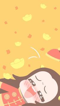 金元宝 黄色 牛哄哄 新年 春节