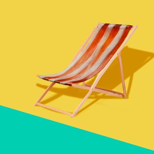 沙滩椅 色彩 木椅 影子