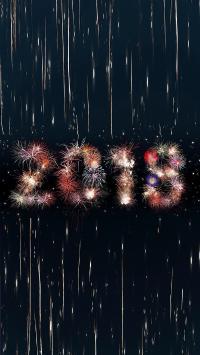 新年 2018 烟花 庆祝