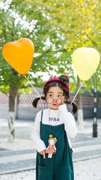 萌娃写真 小女孩 气球