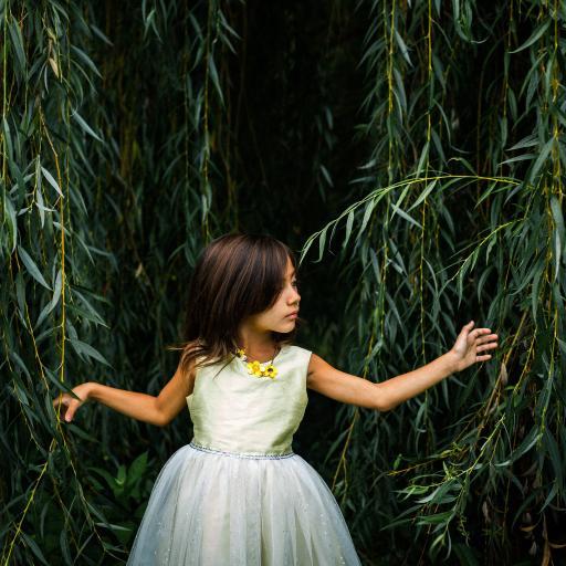 女孩 小礼裙 柳叶 可爱