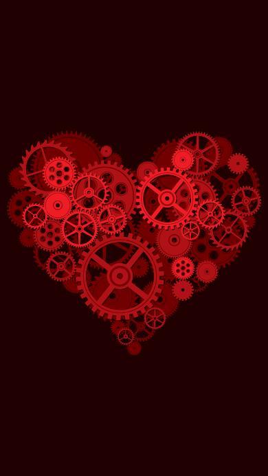 爱心 机械 齿轮 心形