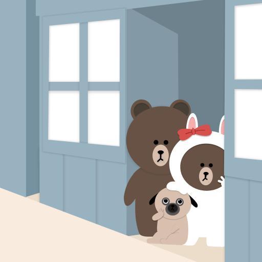 布朗熊 卡通 可爱 line friends 狗