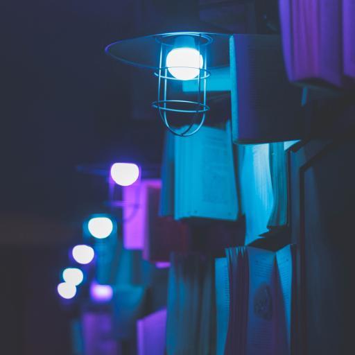 灯具 夜晚 灯光 排列
