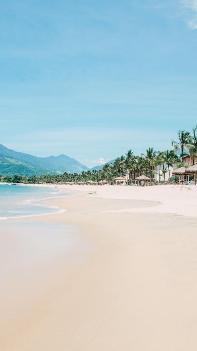 沙滩 海滩 碧海蓝天 度假 旅游