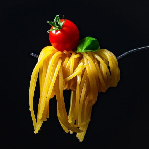 番茄 意面 叉子 创意