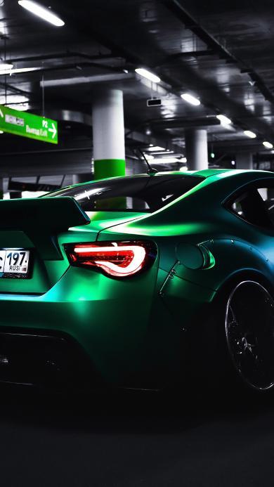 丰田 汽车 绿色 炫酷 赛车 组装