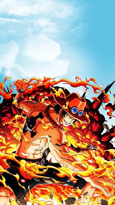 路飞 海贼王 动画 漫画 火焰 日本
