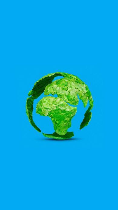 地球 菜叶 包菜 蓝色