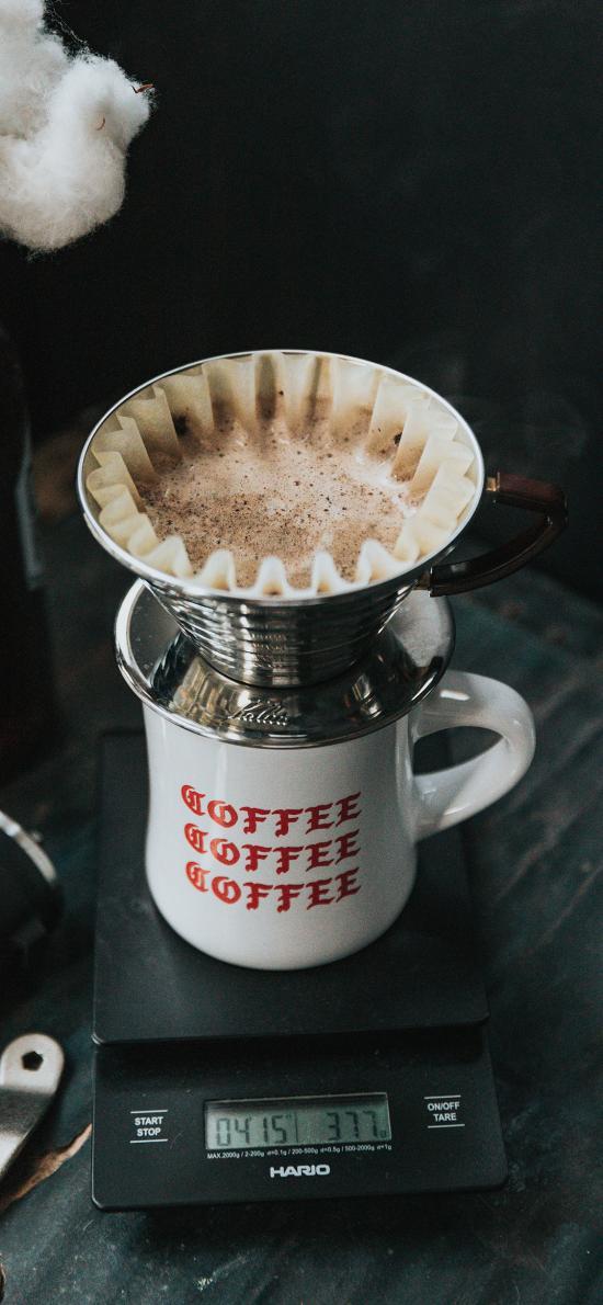 咖啡壶 计重器 滤纸 咖啡