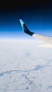 机翼 高空 地面 俯瞰 大气层