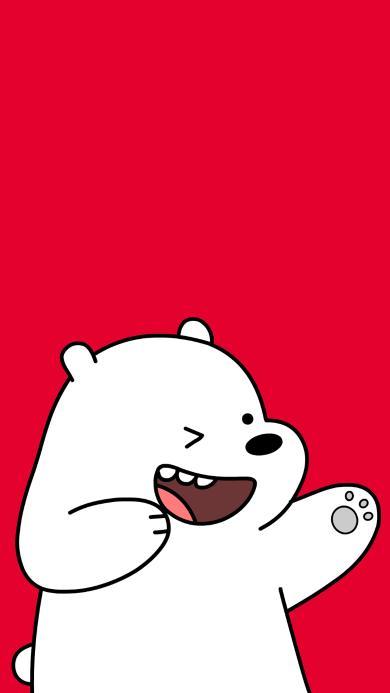 咱们裸熊 红色 卡通 动画 北极熊 可爱