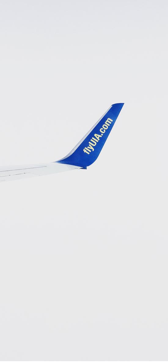 飞机 机尾 白色 机械