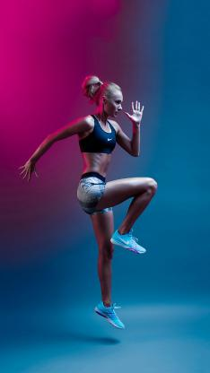 运动 健身 塑性 欧美 女孩