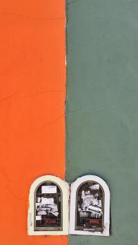 墙壁 颜色拼接 储物柜
