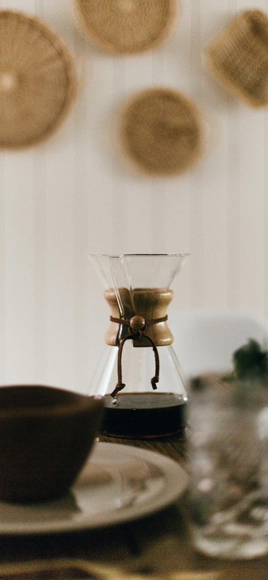 咖啡壶 饮品 黑咖啡 提神