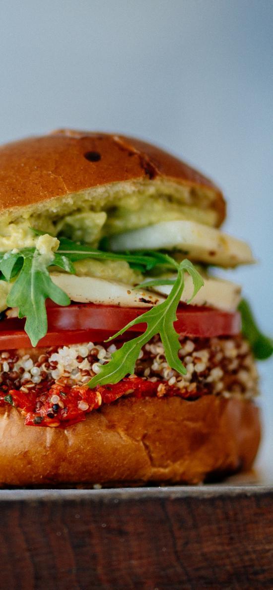 汉堡 夹层 蔬菜 番茄片