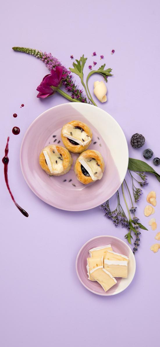 刺身 食物 糕点 点心 鲜花 摆拍 紫色