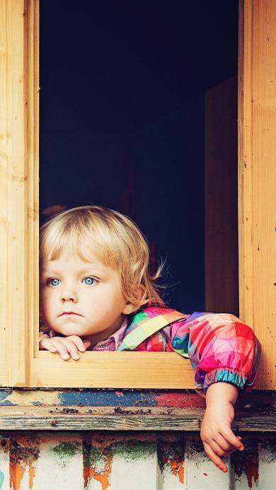 欧美 小女孩 金发 蓝瞳