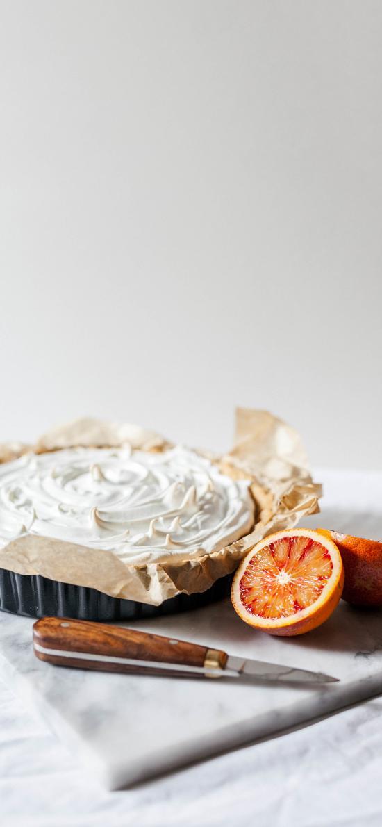 烘焙 甜品 奶油派 西柚
