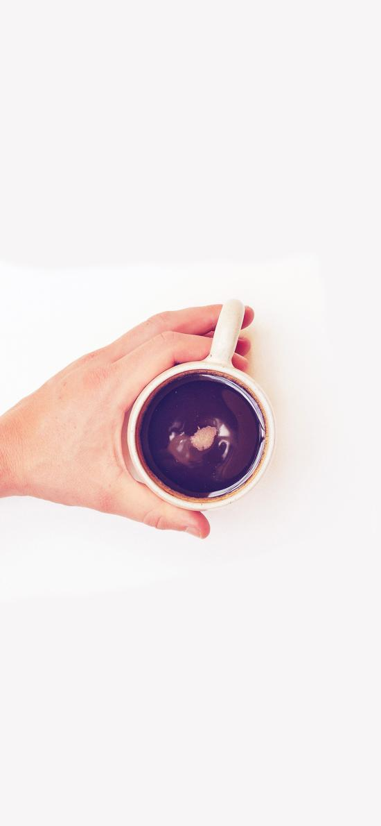 咖啡 饮品 手 下午茶 杯子