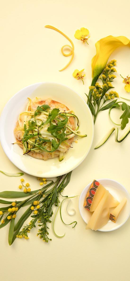 食物 鲜花 料理 黄色 奶酪 沙拉