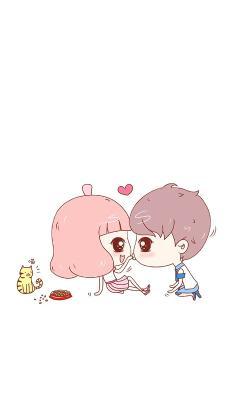 卡通 可爱 爱心 情侣