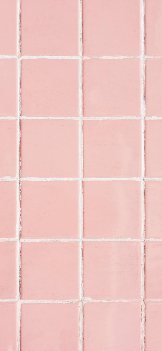 瓷磚 粉色 正方形 鋪