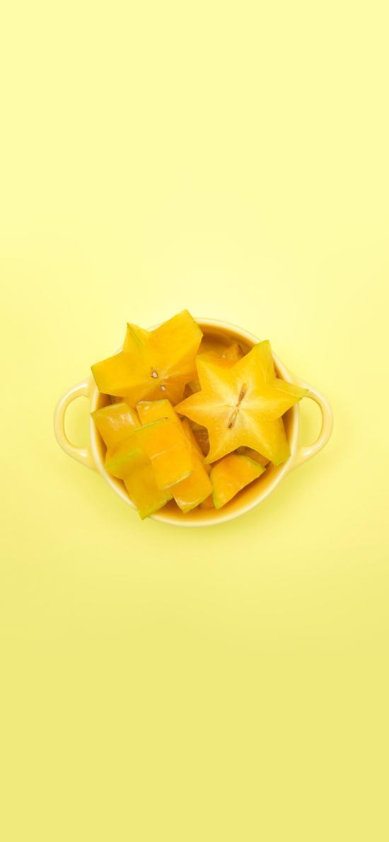 杨桃 黄色 水果 星星 果盘