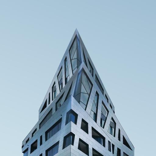 建筑 现代 尖 幕墙