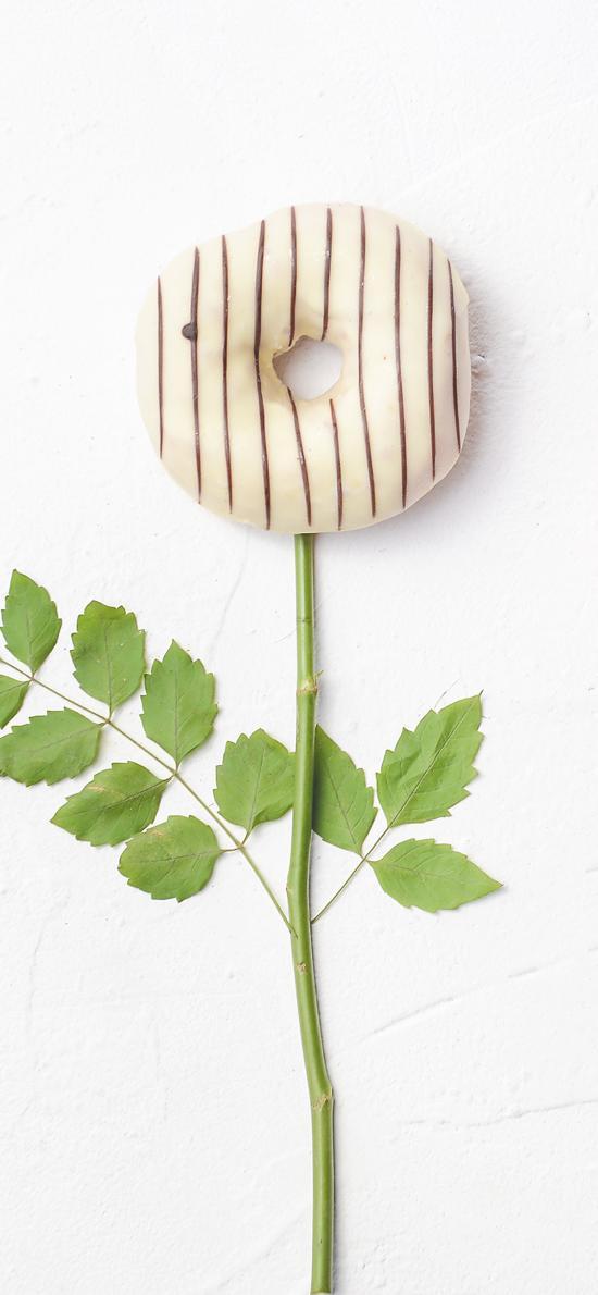 甜甜圈 枝叶 创意 甜食