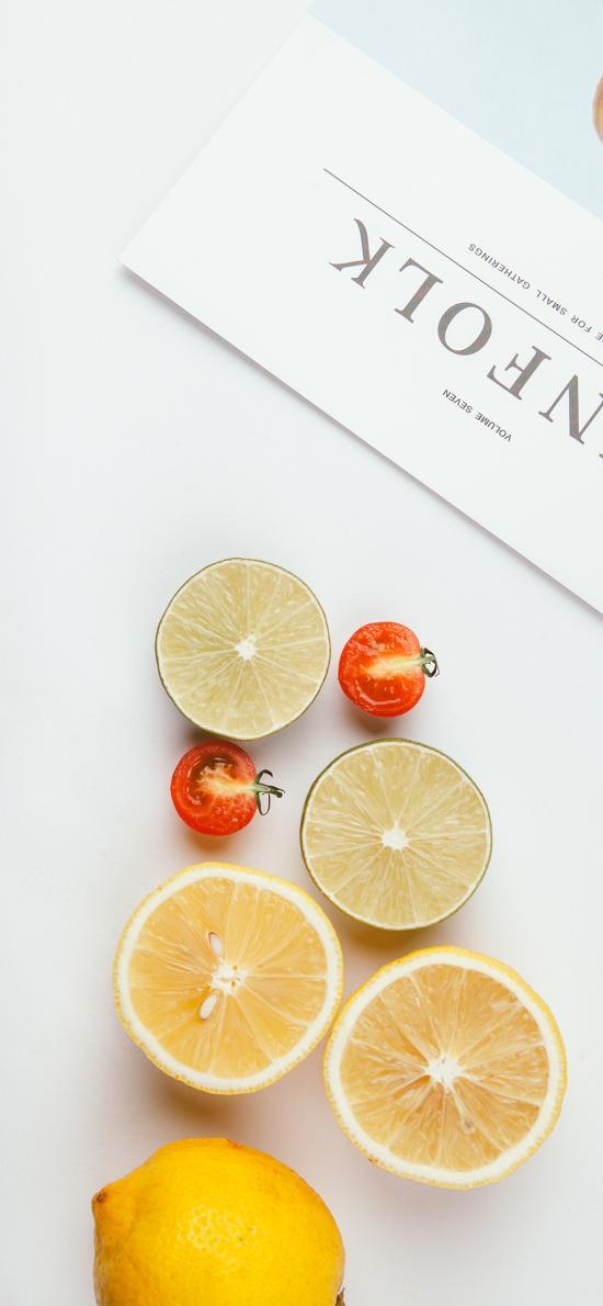 水果 柠檬 圣女果 青柠 杂志