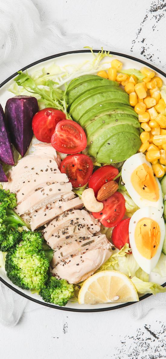健康 蔬菜 减肥 营养 西蓝花 鸡蛋圣女果