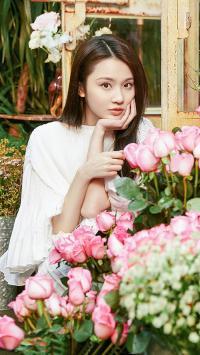 张慧雯 演员 艺人 花丛 玫瑰