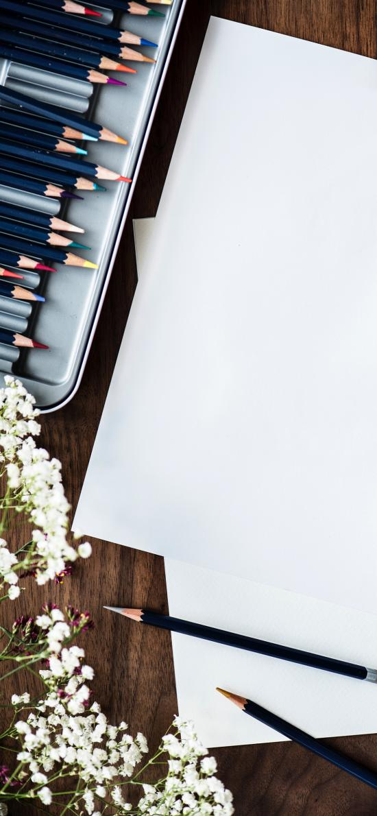 绘画工具 彩铅 铅笔 纸张